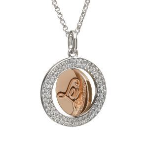House of Lor Circular Disc Pendant with CZ Detail