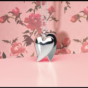 Kit Heath Love Affair Heart Silver Necklace