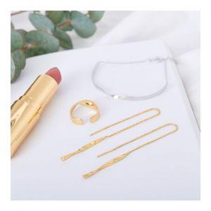 Ania Haie Helix Threader Earrings, Silver
