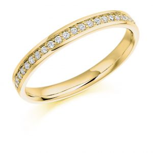 Raphael Collection Half Eternity Ring, Round Brilliant Diamonds in Platinum