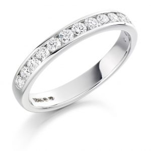 Raphael Collection Half Eternity Ring - Round Brilliant Channel Set