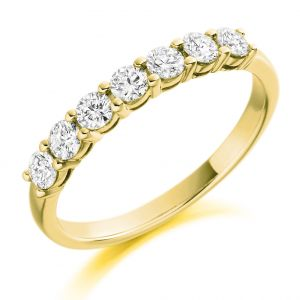 Raphael Collection Half Eternity Ring - Round Brilliant Claw Set