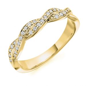 Raphael Collection Half Eternity Ring - Crossover Design