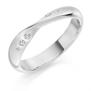 Raphael Collection Half Eternity Ring - Curved and Shaped Rubover Set