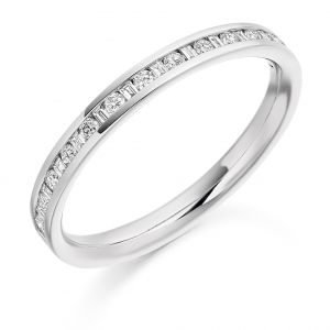 Raphael Collection Half Eternity Ring, Channel Set in Platinum