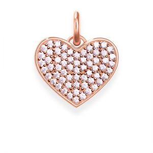 Thomas Sabo 'Heart Hot Pink Pavé' Pendant