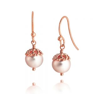 Jersey Pearl Emma-Kate Drop Earrings, Gold