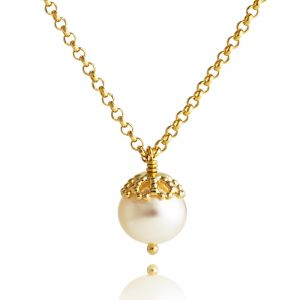 Jersey Pearl Emma-Kate Pendant, Gold