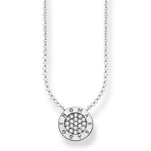 Thomas Sabo Classic Pavé Silver Necklace