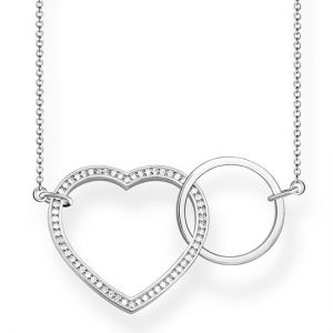 Thomas Sabo Together Heart Large Silver Necklace