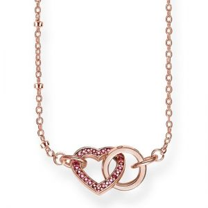 Thomas Sabo 'Together Heart' Necklace, Rose and Red