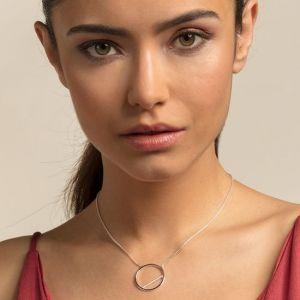 Thomas Sabo Silver Circle Necklace KE1752-051-14