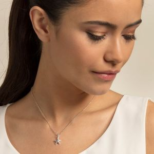 Thomas Sabo Silver and Zirconia Starfish Necklace