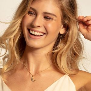 Thomas Sabo Royalty Gold Moon Necklace