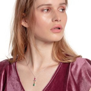 Thomas Sabo Nacklace Colourful Mix Of Forms, Silver