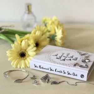 Kit Heath Blossom Eden Small Leaf Stud Earrings