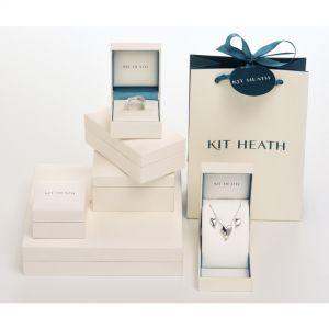 Desire Kiss Mini Heart Rose Gold & Rhodium Plate Hoop Drop Earrings 60BKRG