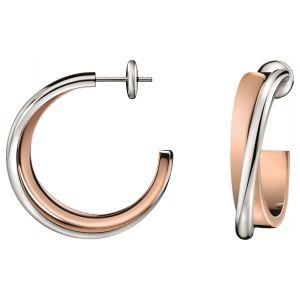 Calvin Klein Coil Two-Tone Hoop Earrings