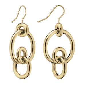 Calvin Klein Clink Champagne Gold Earrings