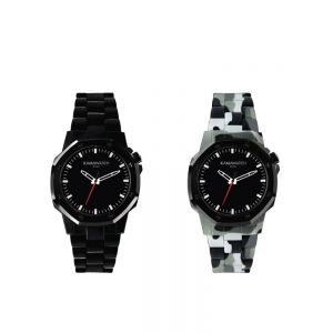 Kamawatch Castell Mist Watch -  Black and Dark Beige Camouflage