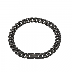 Unique and Co Men's Steel Bracelet, Antique Black Plated