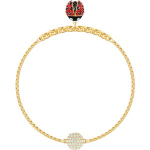 Swarovski Remix Collection Ladybug Strand, Multi-coloured, Gold Plating
