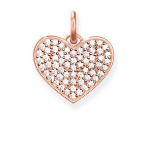 Thomas Sabo 'Heart Hot Pink Pavé' Pendant