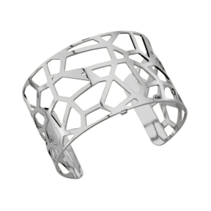 Les Georgettes Girafe 40mm Silver Finish Bangle - Large Size