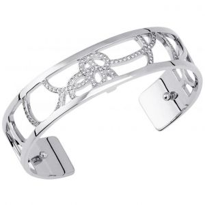 Les Georgettes Petales 14mm Silver Finish Bangle 70312911608000