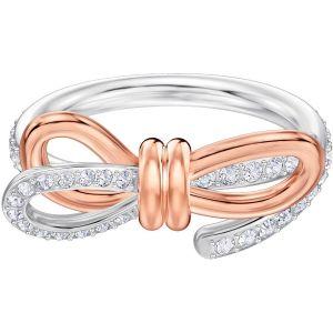Swarovski Lifelong Medium Bow Ring, White, Mixed Plating
