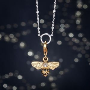 Thomas Sabo Charm Pendant, Gold Bee 1449-414-39