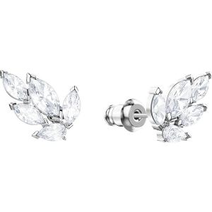 Swarovski Louison Stud Pierced Earrings, Rhodium Plating