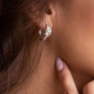 Annie Haak Star Silver Hoop Earrings E0165