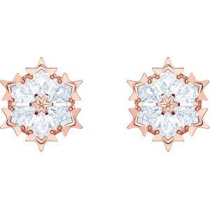 Swarovski Magic Pierced Earrings, White, Rose Gold Plating