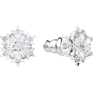 Swarovski Magic Pierced Earrings, White, Rhodium Plating