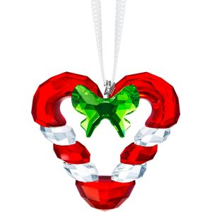 Swarovski Crystal Candy Cane Heart Ornament