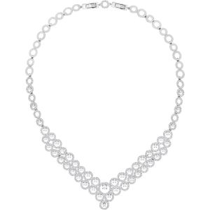 Swarovski Creativity Necklace, White, Rhodium Plating