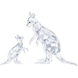 Swarovski Crystal Kangaroo Mother with Baby