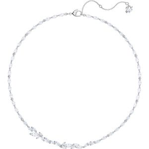 Swarovski Louison Necklace, White, Rhodium Plating