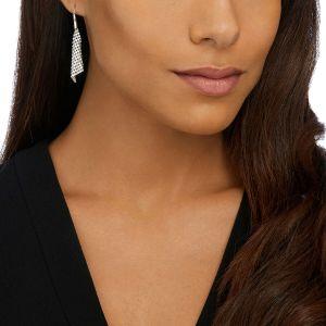 Swarovski Fit Pierced Earrings, Small, White, Rhodium Plating