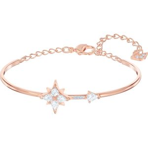 Swarovski Symbolic Bangle, White, Rose Gold Plating