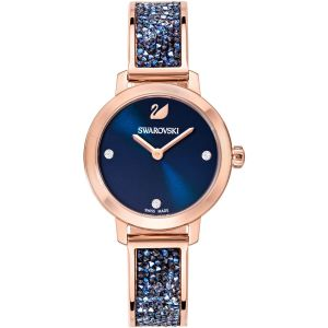 Swarovski Cosmic Rock Watch, Metal Bracelet, Blue, Rose Gold Tone