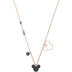 Swarovski Mickey & Minnie Pendant, Multi-coloured, Rose Gold Plating