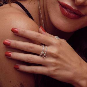 Annie Haak Mini Charm Silver Ring - Open Star