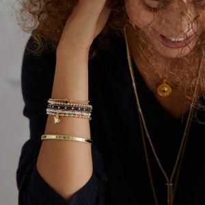 Annie Haak Mini Orchid Gold Charm Bracelet - Solid Heart