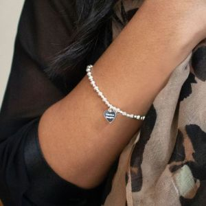 Annie Haak Mini Orchid Silver Charm Bracelet - Good Karma B1006-17