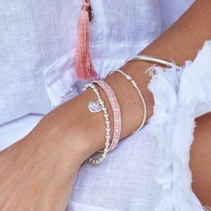 Annie Haak Mini Orchid Silver Charm Bracelet - Good Karma