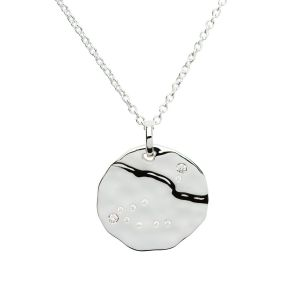 Unique & Co Zodiac Constellation Pendant - Aquarius in Silver MK-616