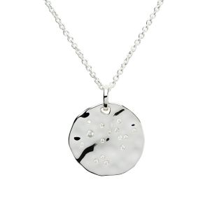 Unique & Co Zodiac Constellation Pendant - Pisces in Silver MK-617