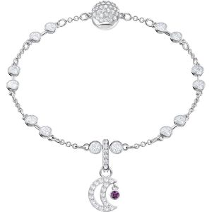 Swarovski Remix Collection Moon, White, Rhodium Plating